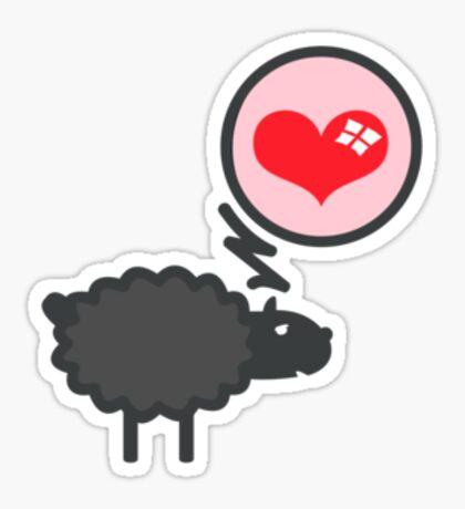 Black Sheep in Love VRS2 Sticker