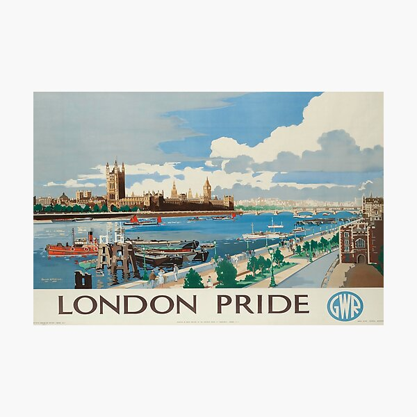 London Pride vintage travel poster Photographic Print