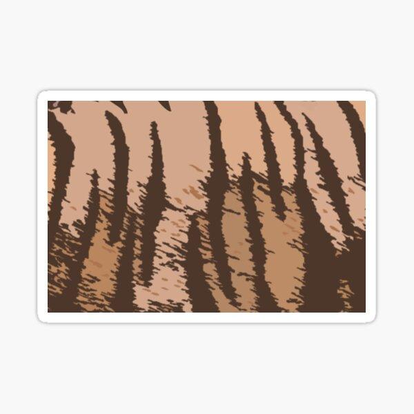 Art Inspired by Nature, Tiger Animal, Art, Illustration Sticker