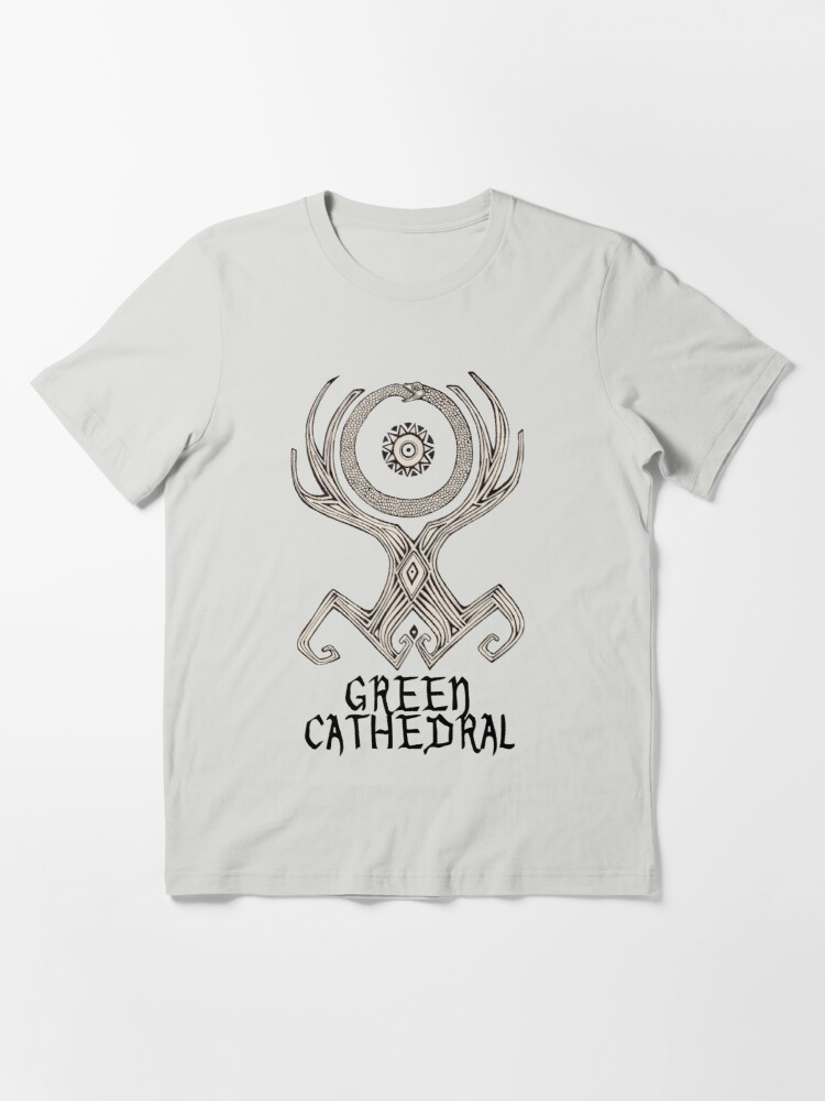 Alternate view of Green Cathedral Tee Design (for light colored shirts) Essential T-Shirt