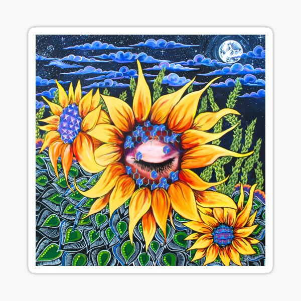 Resting Sunflower Sticker