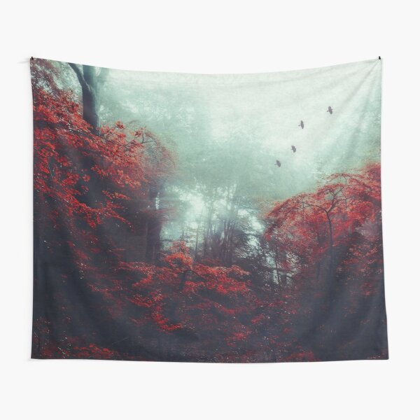 Barrier - Enchanted Forest in Mist Tapestry