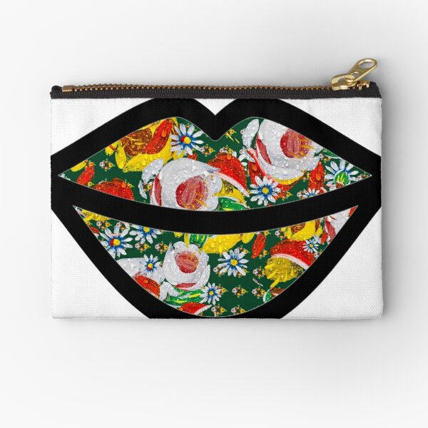 Canal Flowers Chaos Lips from canalsbywhacky Zipper Pouch