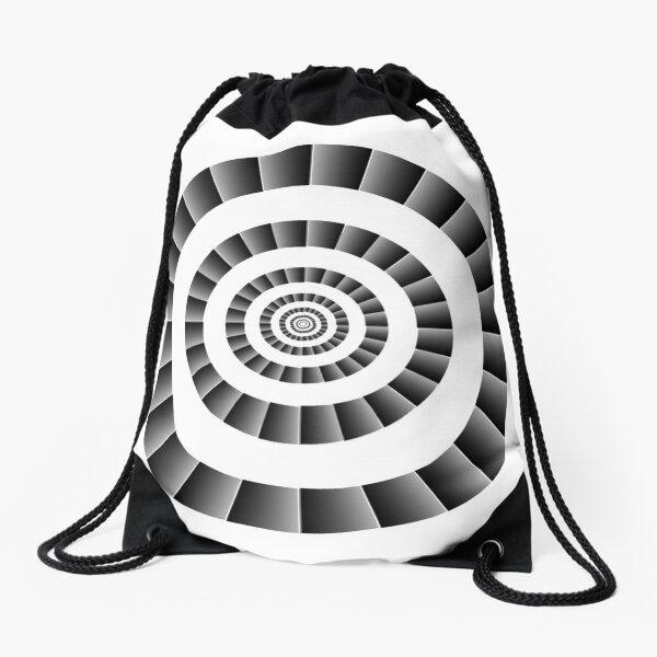 Rotational Illusion Drawstring Bag