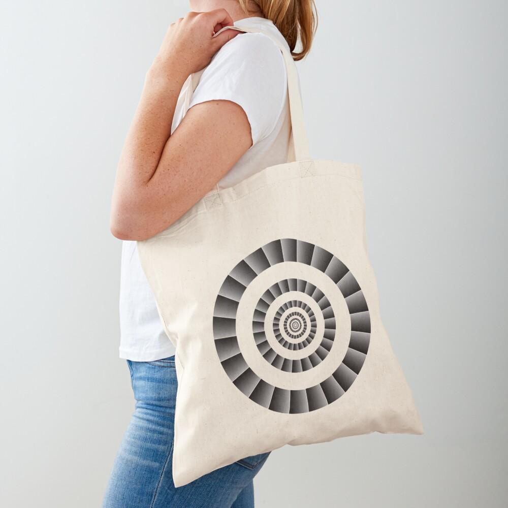 Rotational Illusion Tote Bag
