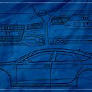 Audi S7 - Blueprint Style by AndrewBerry