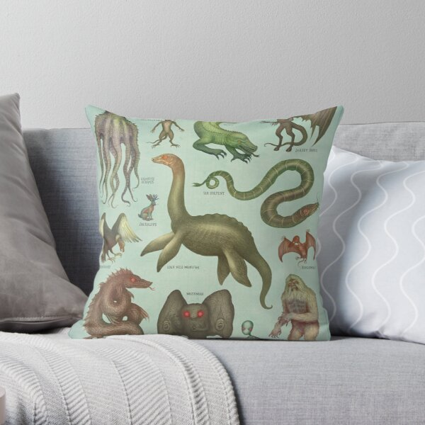 Cryptids - Cryptozoology species Throw Pillow
