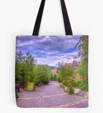 Blue Mountain path Tote Bag