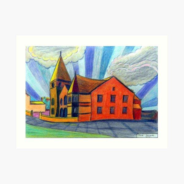 375 - BETHLEHEM CHAPEL, RHOSLLANERCHRUGOG - DAVE EDWARDS - COLOURED PENCILS - 2013 Art Print