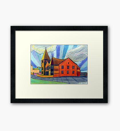 375 - BETHLEHEM CHAPEL, RHOSLLANERCHRUGOG - DAVE EDWARDS - COLOURED PENCILS - 2013 Framed Print
