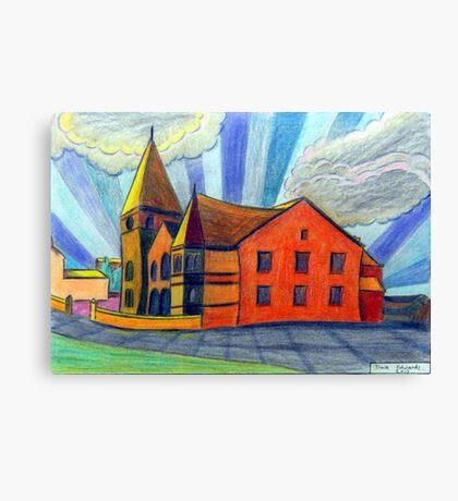 375 - BETHLEHEM CHAPEL, RHOSLLANERCHRUGOG - DAVE EDWARDS - COLOURED PENCILS - 2013 Canvas Print