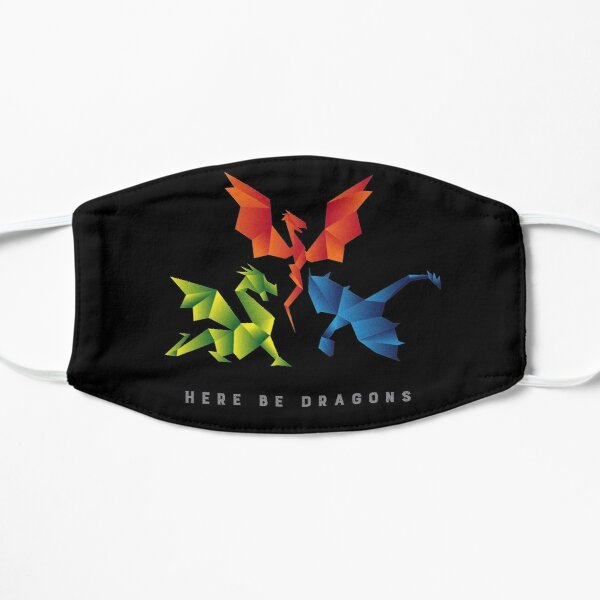 SCP-1762 Where The Dragons Went Origami Style Dragons Flat Mask