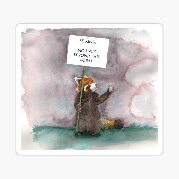 Kindness only Panda Sticker