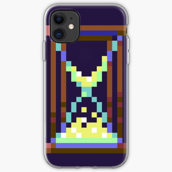 Hourglass Retro Video Game Pixel Art iPhone Soft Case