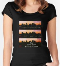 The city that never sleeps Women's Fitted Scoop T-Shirt