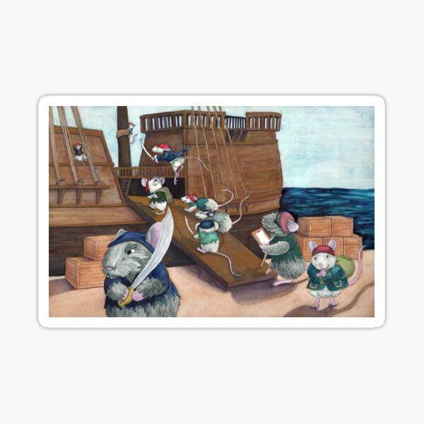 Pirate Mice Boarding Sticker
