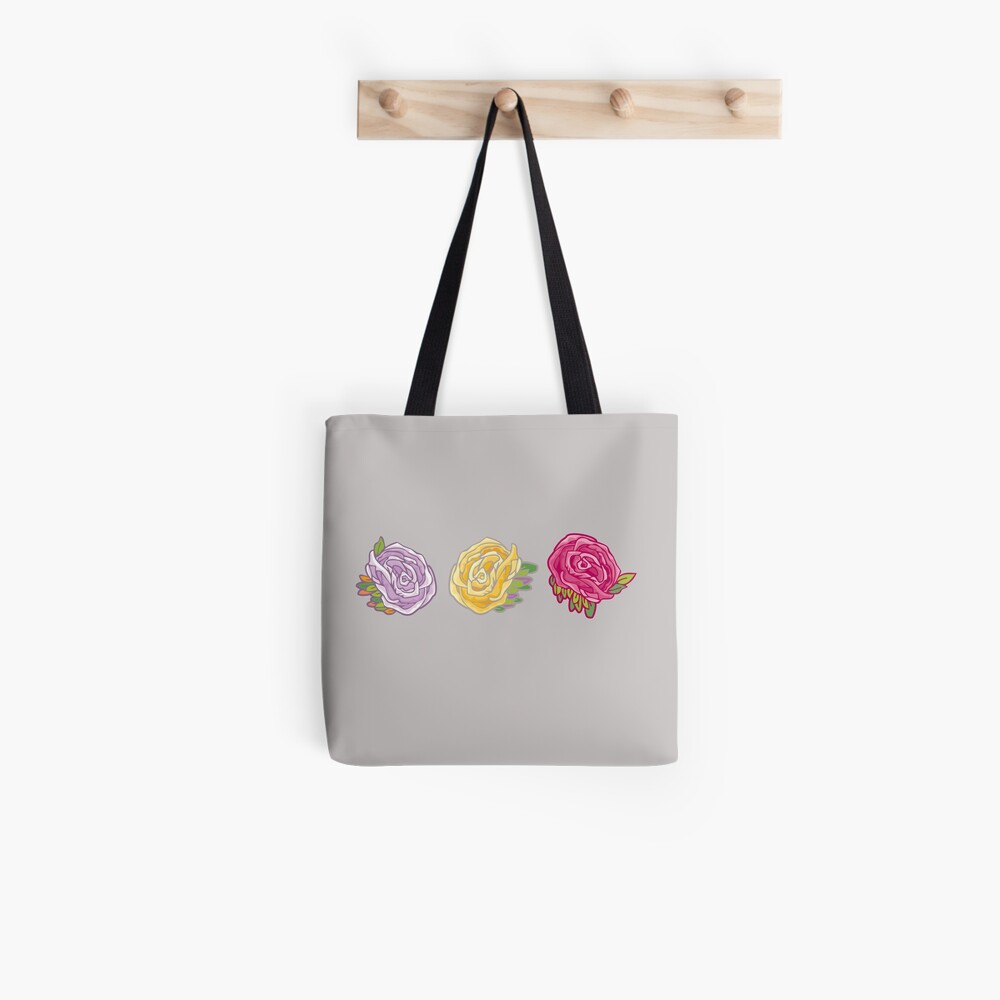 Decorative Roses Tote Bag