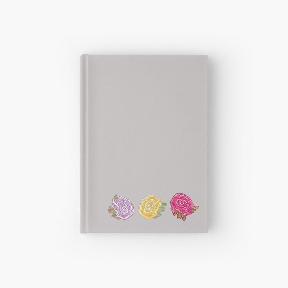 Decorative Roses Hardcover Journal