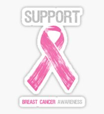 Breast Cancer Awareness Support Ribbon Sticker