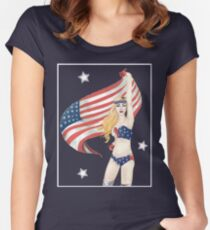 United States of Gaga Women's Fitted Scoop T-Shirt