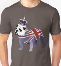 English Bulldog and Crown Unisex T-Shirt