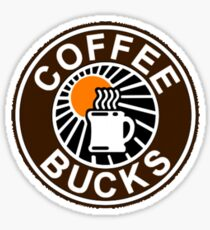Coffee Bucks Sticker