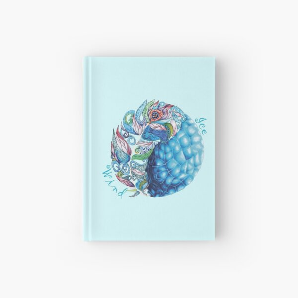 Elemental Patterns Wind and Ice Hardcover Journal