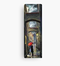 Prague Old Street Love Story Canvas Print