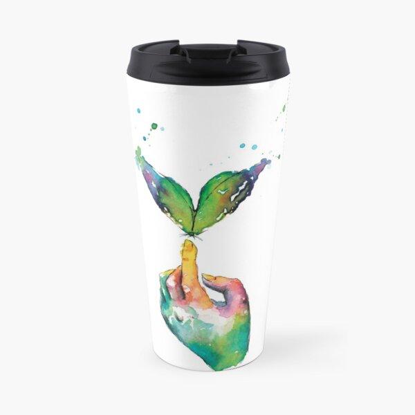 Touching a Butterfly Wish Travel Mug