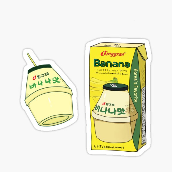 Cute Asian Drinks Peach Orange Melon Milk Fruit Milk Korean Drink Journal Froot Milk Sticker Pack Asian Drink Pack Banana