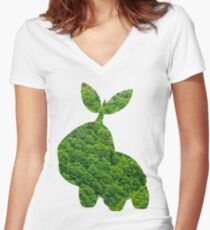Turtwig used Synthesis Women's Fitted V-Neck T-Shirt
