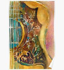 Póster Guitarra Gibson Hummingbird
