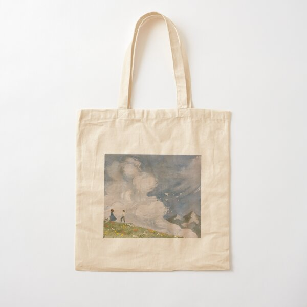 Cloudy Flower Fields Cotton Tote Bag