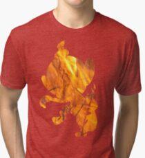 Chimchar used Flame Wheel Tri-blend T-Shirt