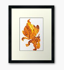 Chimchar used Flame Wheel Framed Print