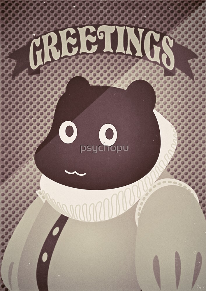Bearizabethan Greetings by psychopu