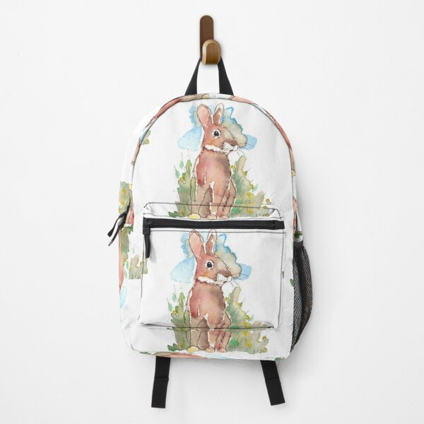 Spring Rabbit in watercolour Backpack