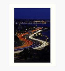 Kwinana Freeway - Western Australia  Art Print