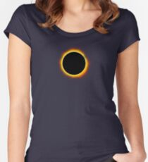 Solar Eclipse II Women's Fitted Scoop T-Shirt