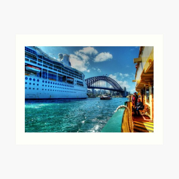 Ships That Pass.... Art Print