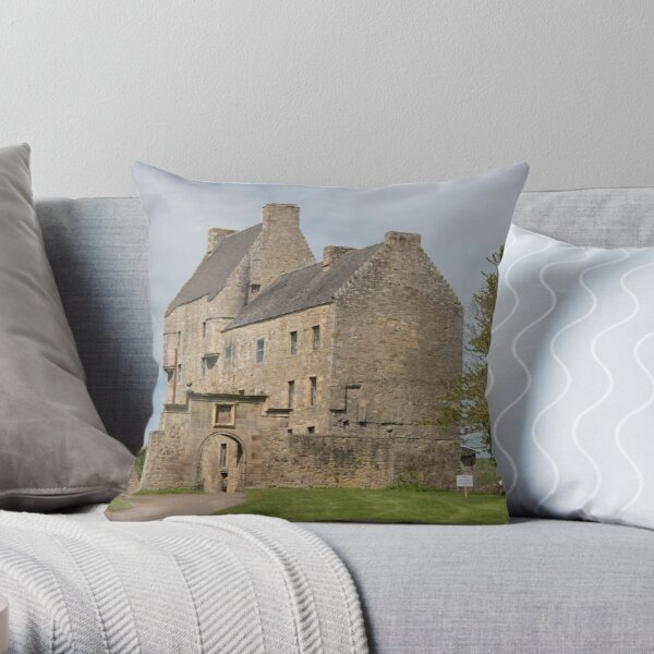 Midhope Castle , Edinburgh 2411 Throw Pillow