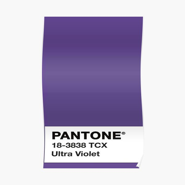 PANTONE COLOR OF THE YEAR 2018 ULTRA VIOLET SWATCH  Poster