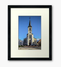 Church in French Alps, Sevrier Framed Print
