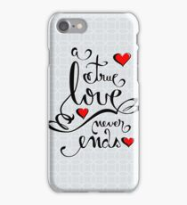 Valentine Love Calligraphy and Hearts iPhone Case/Skin