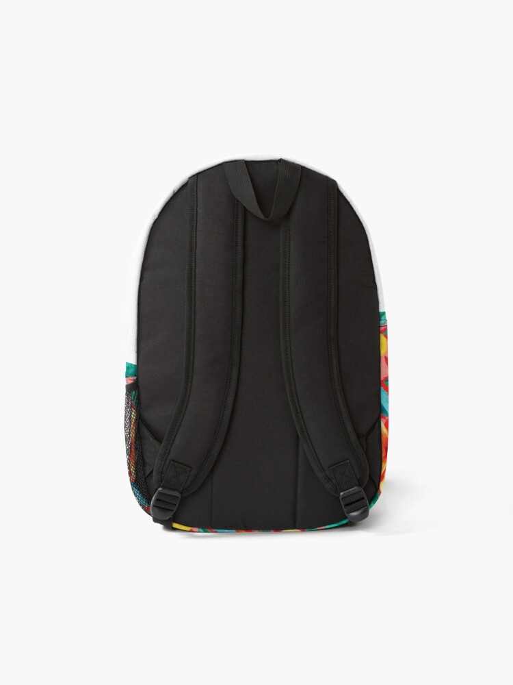 Alternate view of OTT Maximalist Hawaiian Hibiscus Floral with Stripes Backpack
