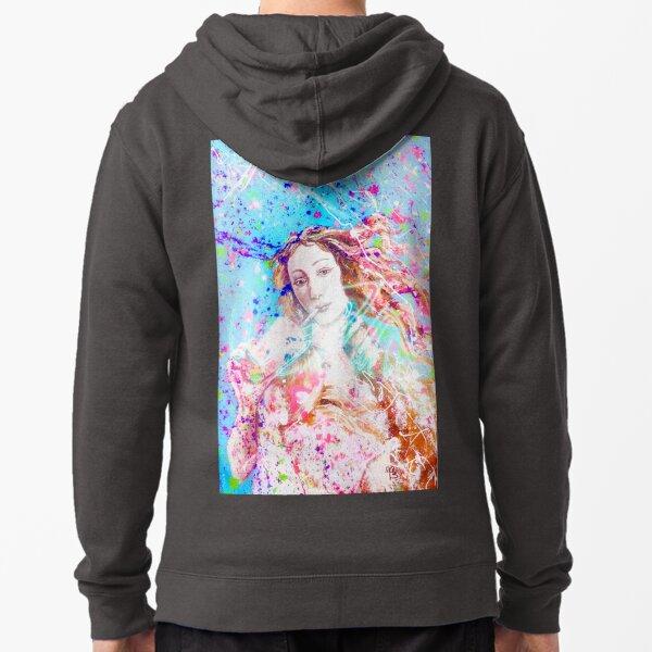 Graffiti hipster birth of Venus Botticelli reimagined. Zipped Hoodie