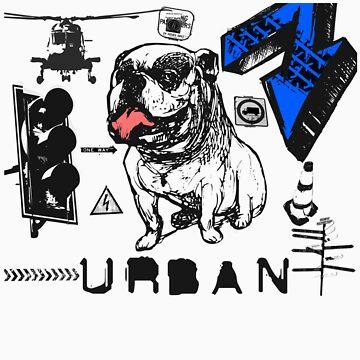 Urban Grunge Bulldog by seldred80