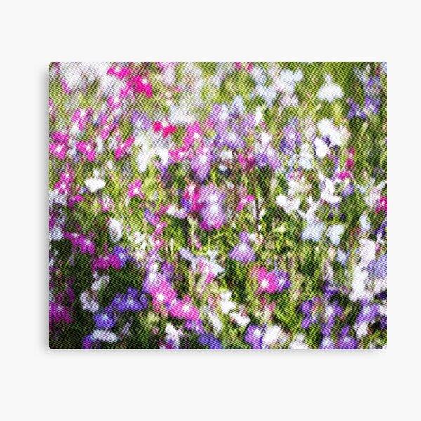 Flower Halftone Pattern Canvas Print