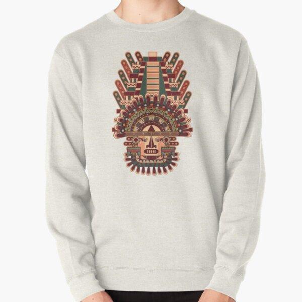 Mayan Deity Pullover Sweatshirt
