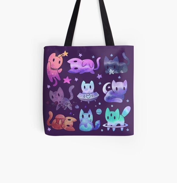 Space Cats All Over Print Tote Bag